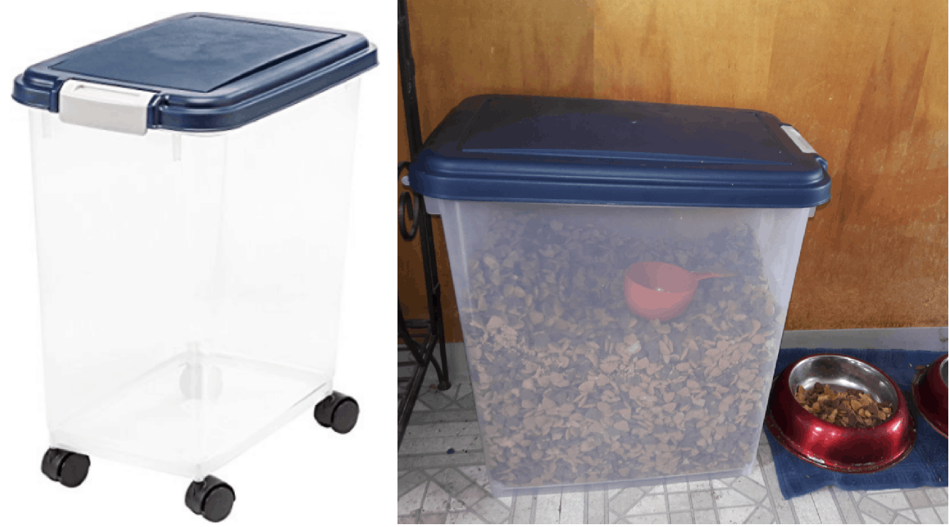 Delicieux Airtight Pet Food Storage Container $10.89 (Regularly $24.99)
