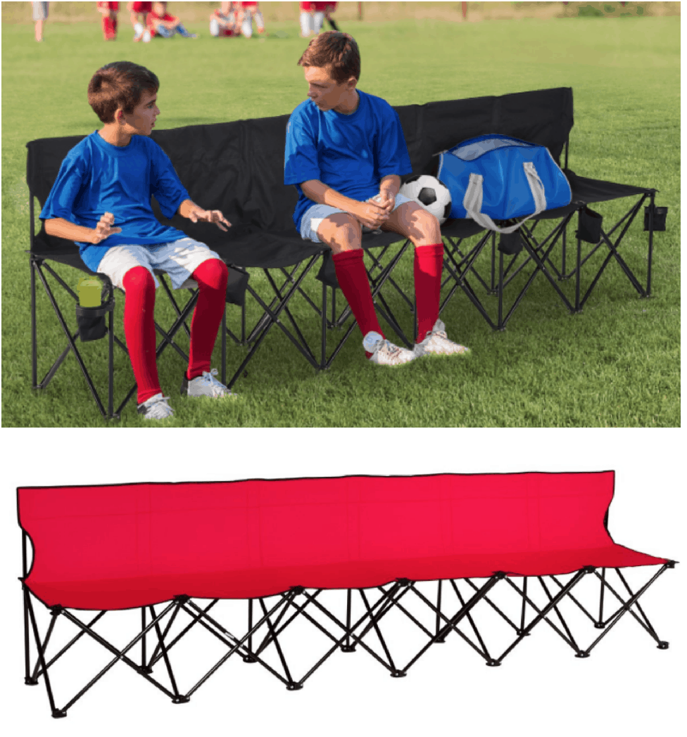 Portable Folding Sports Bench $52.10