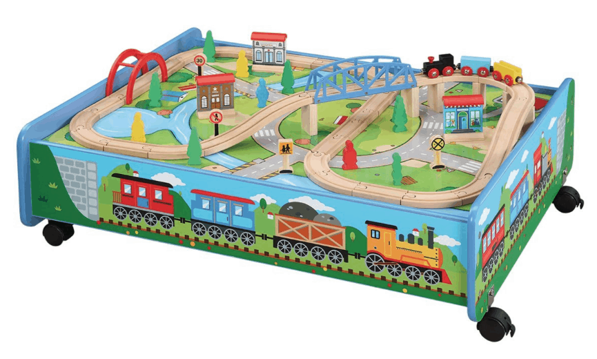 Thomas & Friends Compatible 62-Piece Wooden Train Set with