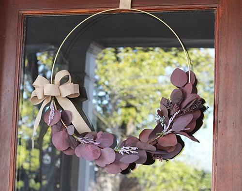 DIY HOOP WREATH