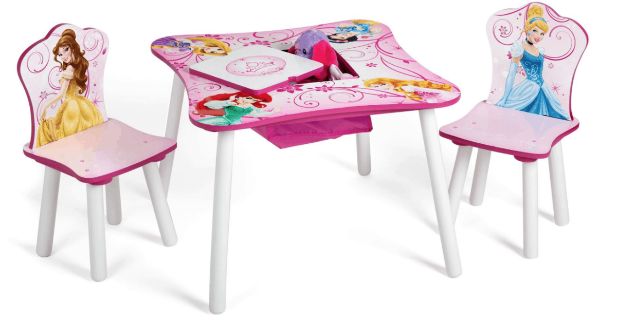 Disney Princess Storage Table and Chairs Set $39.99, Shipped ...