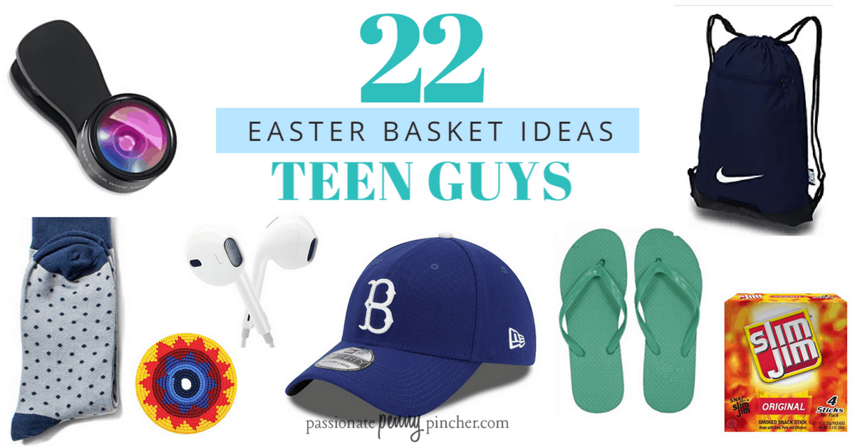 22 teen boy easter basket ideas passionate penny pincher teen boy easter basket ideas negle Image collections