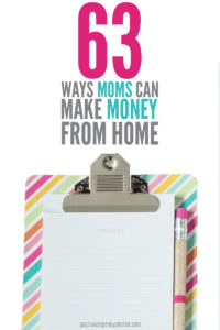 Looking for ways to make money from home?? This list will give you oodles of ideas!!