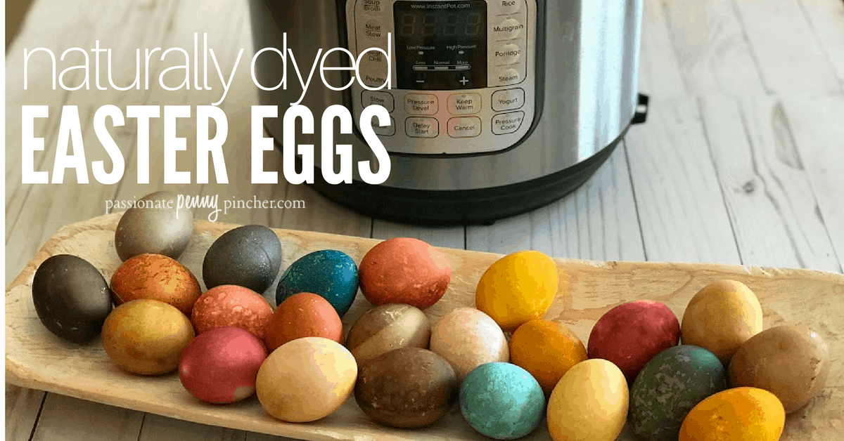 This year I tried natural dyed Easter eggs in the Instant Pot and I was AMAZED how vibrant and beautiful their colors turned out!