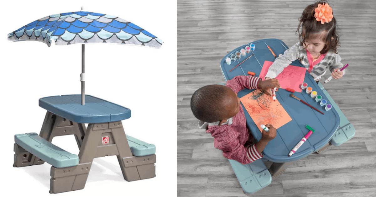 Enjoyable Kohls Kids Picnic Table Set W Umbrella Disney Camp Download Free Architecture Designs Scobabritishbridgeorg