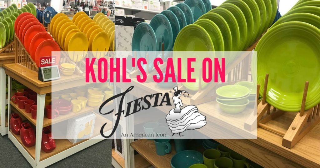 Check out this great fiestaware sale at kohl's right now!