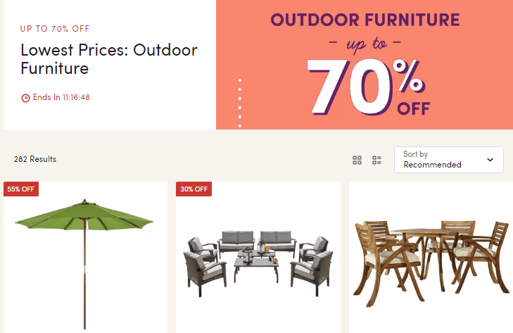 ANNNDDD U2013 Check Out Wayfairs HUGE Way Day Patio Furniture 70% OFF Sale  Going On Right Now As Well 🙂