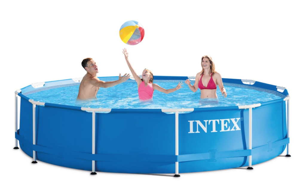 Intex Above Ground Pool In Target Intex 12u2032 30u2033 Metal Frame Above Ground Pool 7728