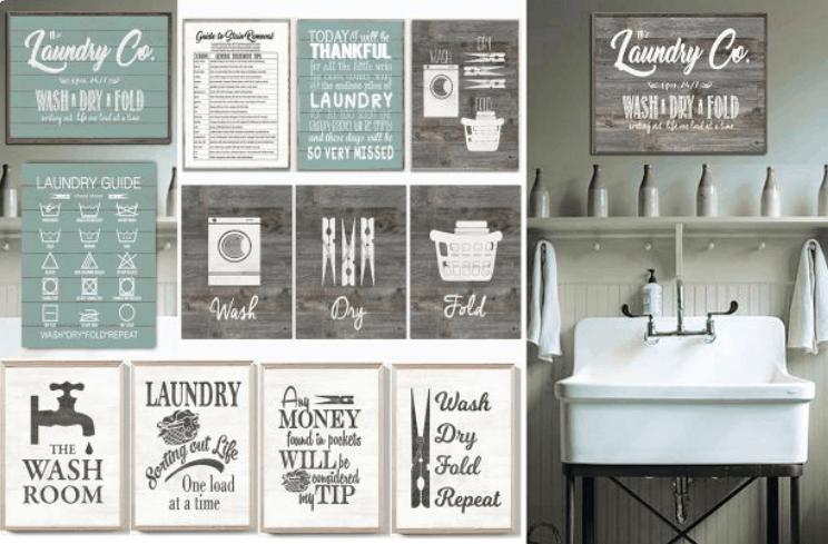Rustic 11 14 Laundry Room Prints 3 77