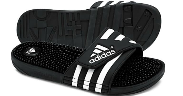 464debb2eec5 Adidas Adissage Slides ONLY  22.46! (Reg  30)  Great for Plantar Fasciitis!
