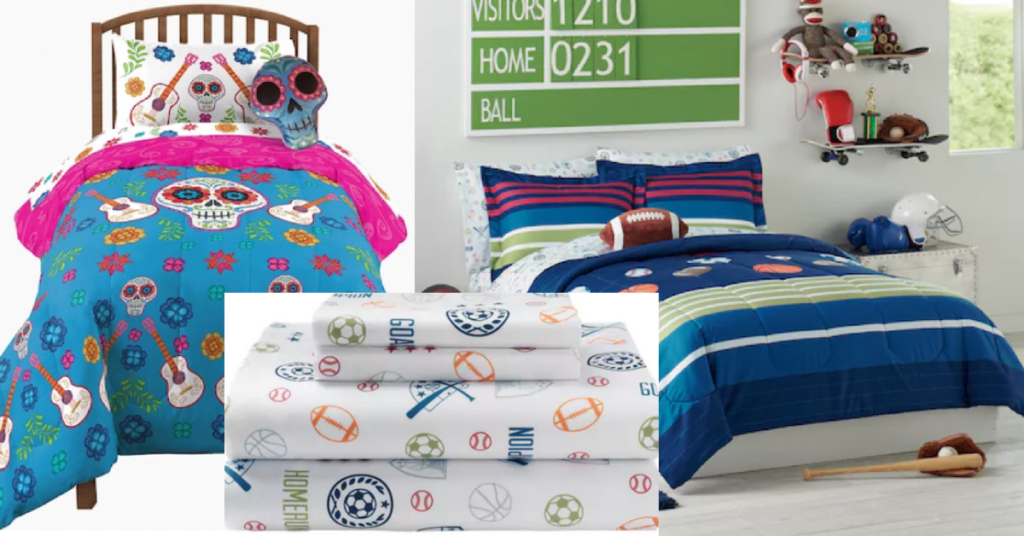 Kohls Kids Bedding Clearance | Kids 7 Piece MVP Sports Bedding Set Only $22  (Reg $140), Star Wars Sheets Only $8! (Reg $50)