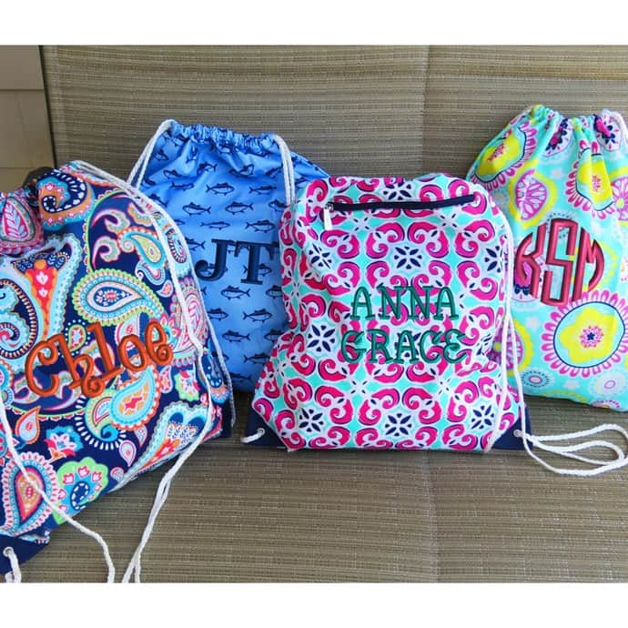 3bff75d9c30e80 Super Cute Personalized Drawstring Bags!