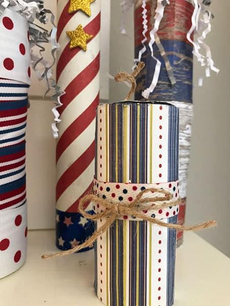 DIY 4th of July Decorations Firecracker Craft