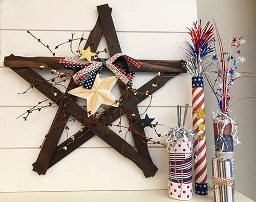 You'll love these simple DIY 4th of July Decorations - with options for both an adult and kids to do!