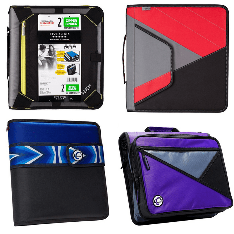 4 affordable zipper binders for middle school passionate penny pincher