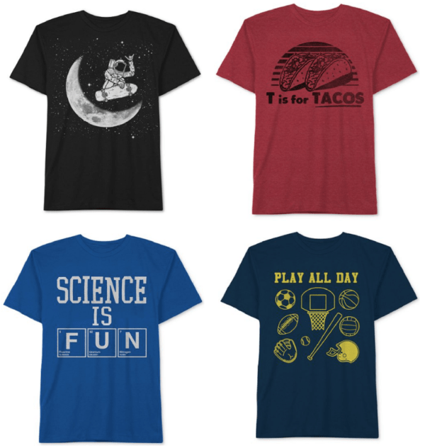 01d6dbc006 Macy's | Boys Graphic Tees $2.99 (+ Under Armour, Nike, and Adidas Tees as  low as $7.13!)