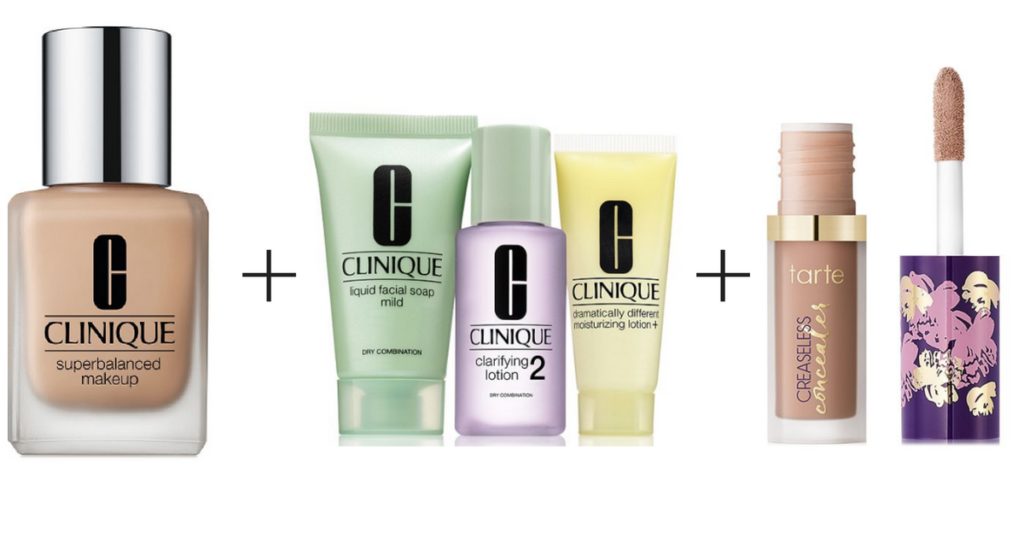 Macy's | Clinique Foundation + 3 Step Kit + Tarte Concealer only $25