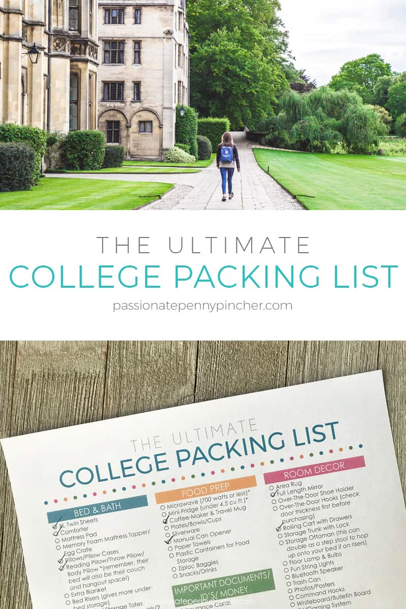 Ultimate College Packing List
