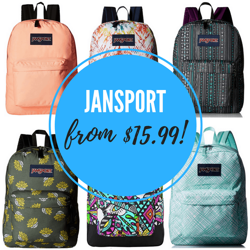 Jansport Backpack Sale on Amazon - Styles from ONLY $15 99