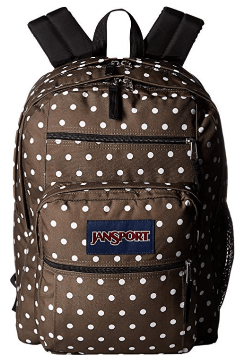 e5908d5a77 And I found just ONE Jansport Big Student Backpack that was on sale as well  – the pattern Green Machine White Dots is only  18.99! (Reg  50)