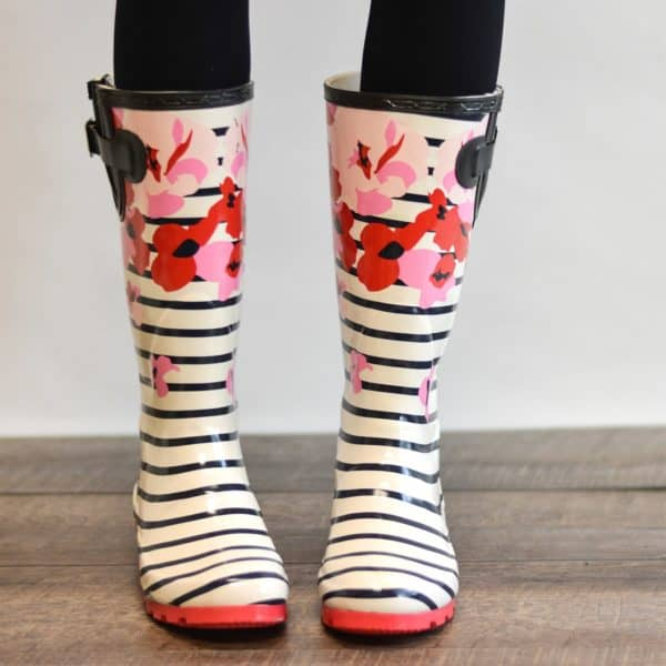Fun Patterned Rubber Rain Boots Passionate Penny Pincher Classy Patterned Rain Boots