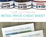 Retail Price Cheat Sheet