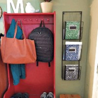 Simple School Command Center (I found the perfect hanging organizer!)