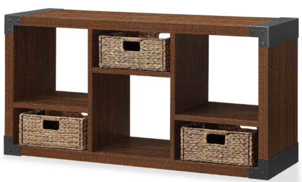 Langdon Tv Stand With Cubbies With Storage Baskets Only 49 Reg