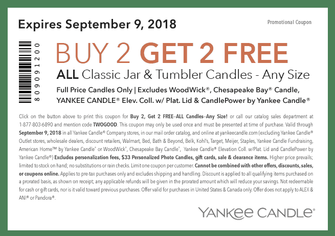 Buy Two Get Two Free Yankee Candle Coupon