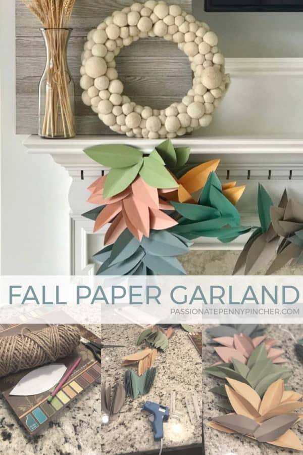 Looking for a frugal way to fluff up your home? Look at this beautiful Fall paper garland I made. I'm in love with it!!