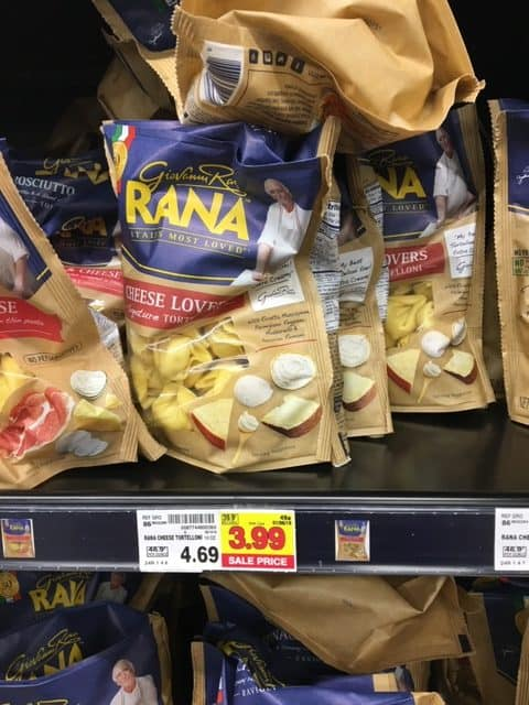 Rana Pasta or Pasta Sauce Deal at Kroger