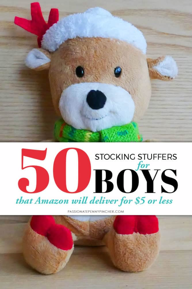 Huge list of stocking stuffer ideas for boys. All items are priced $5 or below! Check out all of our Stocking Stuffers lists to finish Christmas shopping!