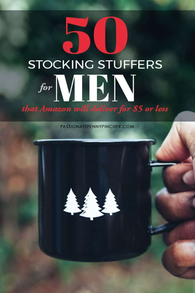 Huge list of stocking stuffer ideas for men. All items are priced $5 or below! Check out all of our Stocking Stuffers lists to finish Christmas shopping!