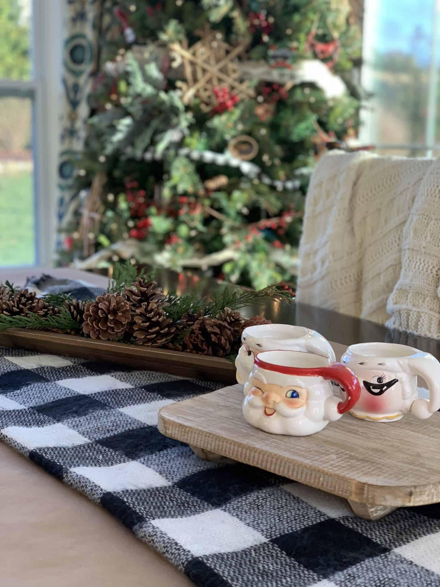 christmas santa mugs