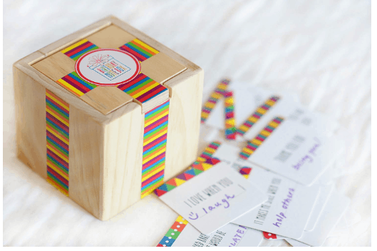 This Is The Neatest Idea Check Out How To Score Birthday Note Box Colorful Wooden With Card Stock Notecards For Personalization Great
