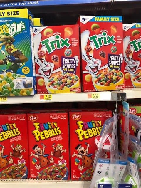 Walmart Trix Cereal Just 1 48