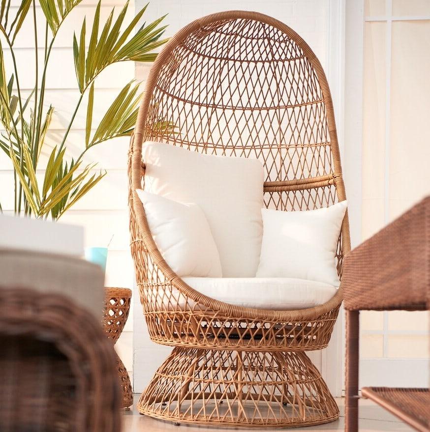 Kohl S Sonoma Wicker Swivel Egg Chair 75 Off More Patio Deals