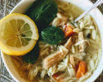 Slow Cooker Lemon Chicken Orzo Soup