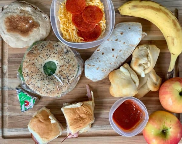 make ahead school lunch ideas for kids on kitchen counter