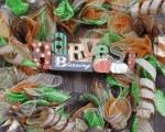 DIY Fall Deco Mesh Wreath