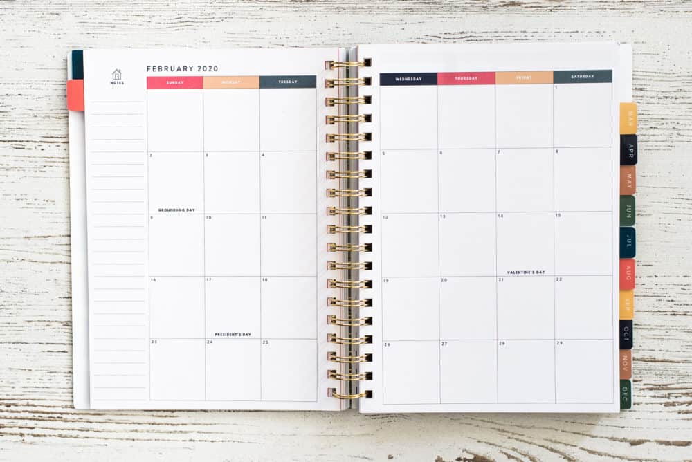 Home Planner Calendar View