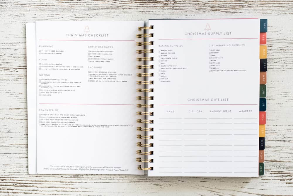 Home Planner Christmas Checklists