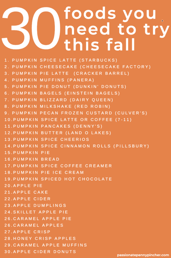 Fall Foods