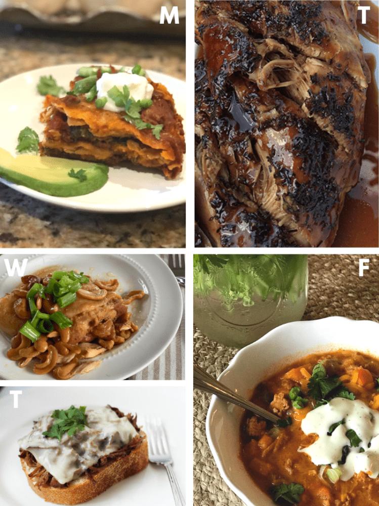 Image of Crocktober meals week 4