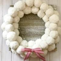 Anthropologie Pom Pom Wreath Knockoff