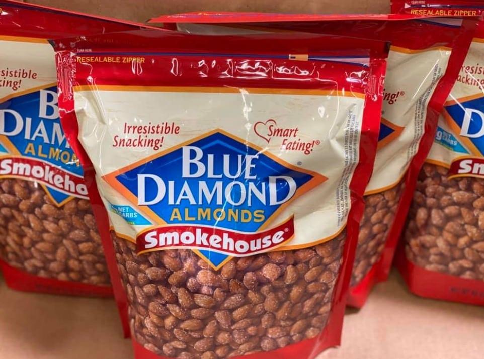 Blue diamond almonds bags