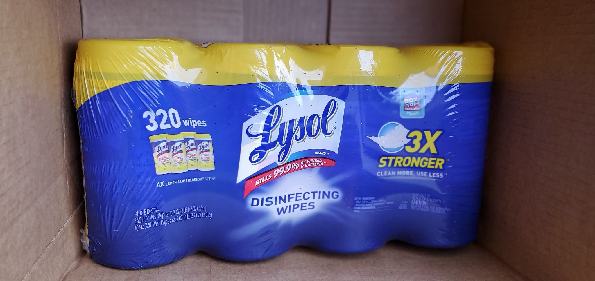 lysol wipes 320 count 4 pack