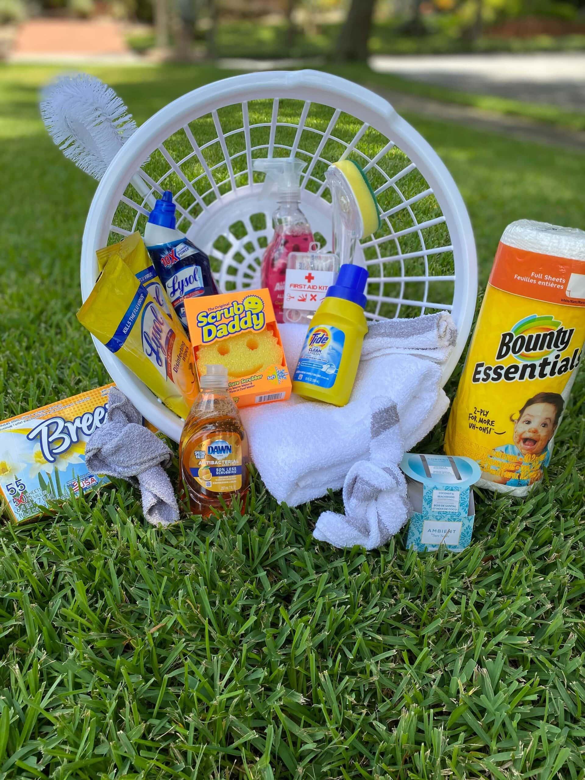 college laundry basket gift idea
