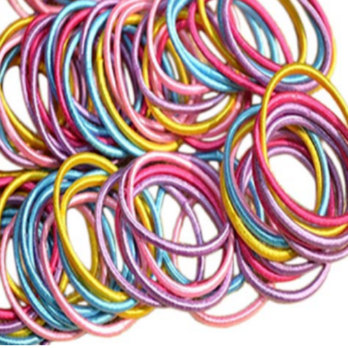 Elastic Hair Ties, 100 pc