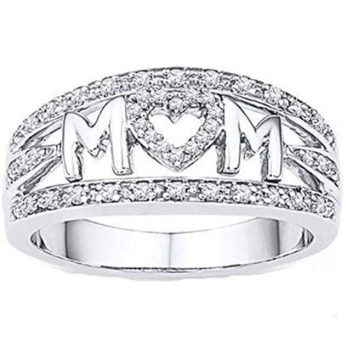 MOM Letter Ring